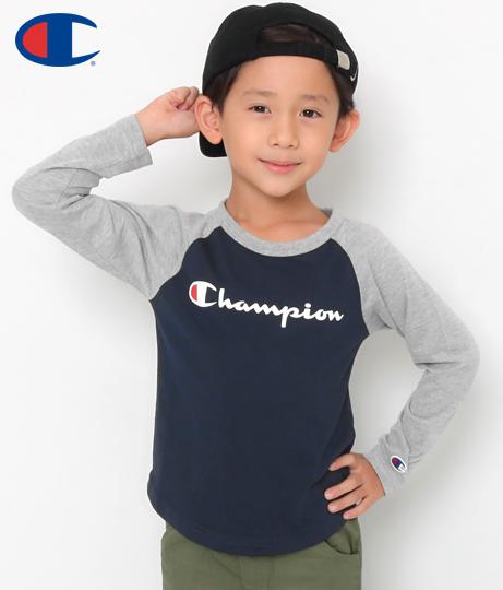 championKIDS 長袖ラグランTシャツ