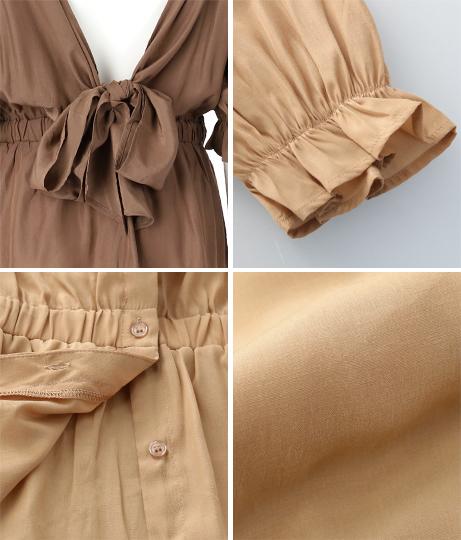 バックリボンボリューム袖ブラウス(トップス/カットソー ・パフスリーブトップス・シャツ・ブラウス) | CHILLE