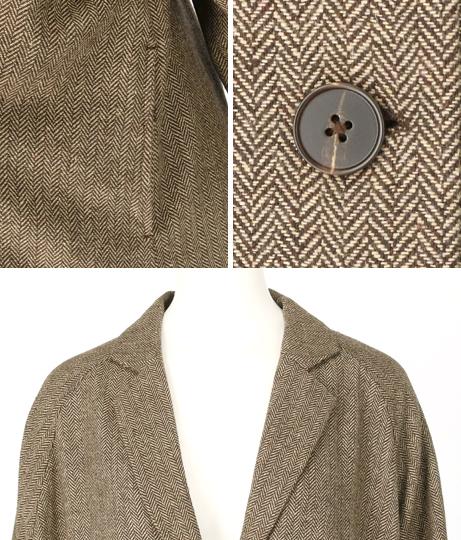 ツイードロングジャケット(アウター(コート・ジャケット) /コート (トレンチコート・ロングコート) ・ジャケット・ブルゾン) | Factor=