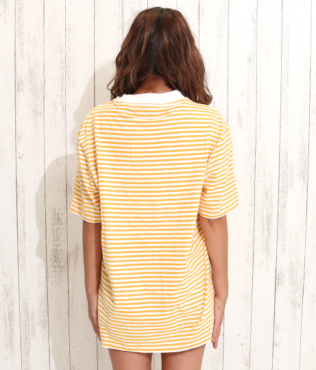 GUESS SS GO IVY STRIPE OS CREW | GUESS