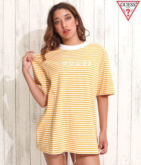 GUESS SS GO IVY STRIPE OS CREW
