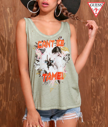 GUESS SL CANT BE TAMED TANK | GUESS