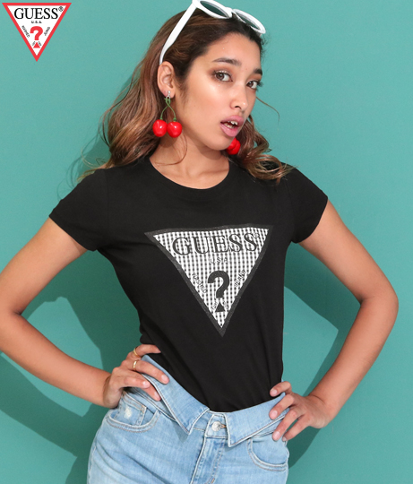 GUESS SS R3 GINGHAM TEE