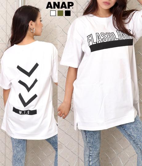 ロゴプリントTシャツチュニック