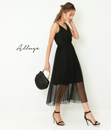 チュールレイヤードワンピース(ワンピース・ドレス/チュニック) | Alluge