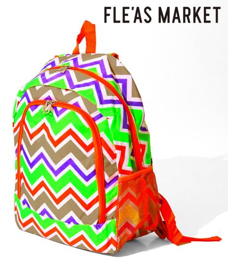 オレンジカラーマルチ波柄バックパック(バッグ・鞄・小物/バックパック・リュック) | Fle'as Market