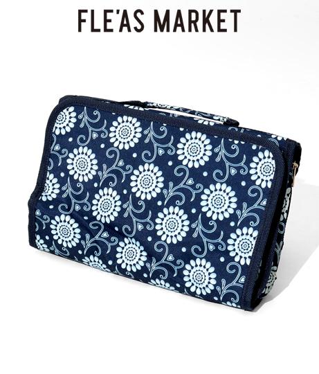 ヒマワリ模様トラベルポーチ(ファッション雑貨/ポーチ) | Fle'as Market