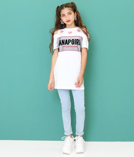 ハート開きチュール重ねワンピース(ワンピース・ドレス/ミニワンピ) | ANAP GiRL