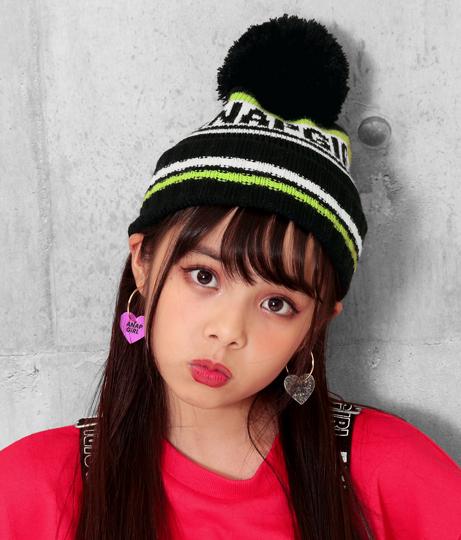 ライン配色ニット帽(ファッション雑貨/ハット・キャップ・ニット帽 ・キャスケット・ベレー帽) | ANAP GiRL
