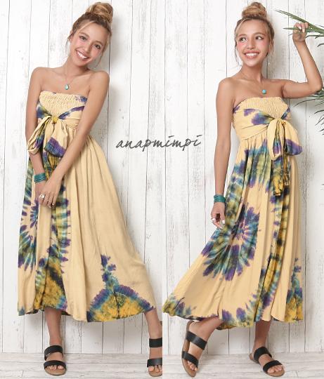 フロントリボンベアワンピース(ワンピース・ドレス/ロングワンピ) | anap mimpi