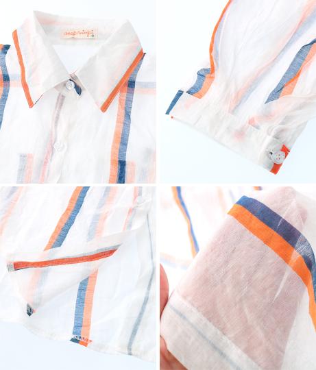 マルチストライプ透けロングシャツ(アウター(コート・ジャケット) /シャツ・ブラウス)   anap mimpi