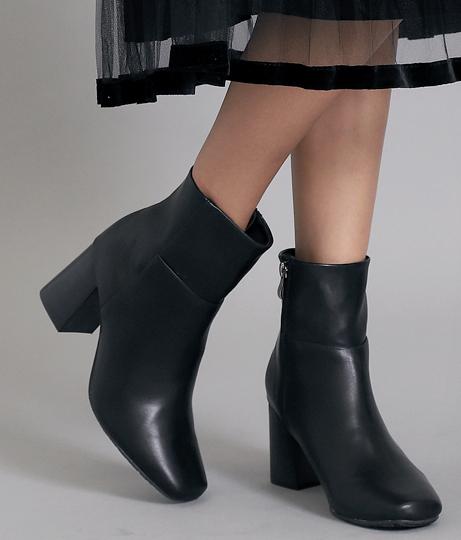 スクエアトゥブーツ(シューズ・靴/ブーツ)   Alluge