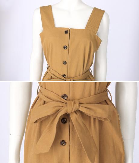 綿ツイルフロントボタンオールインワン(ワンピース・ドレス/サロペット/オールインワン) | Alluge