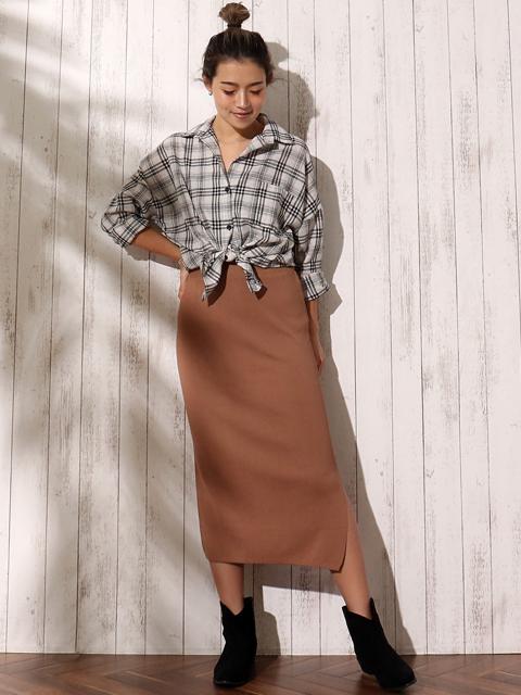 ニットソータイトスカート