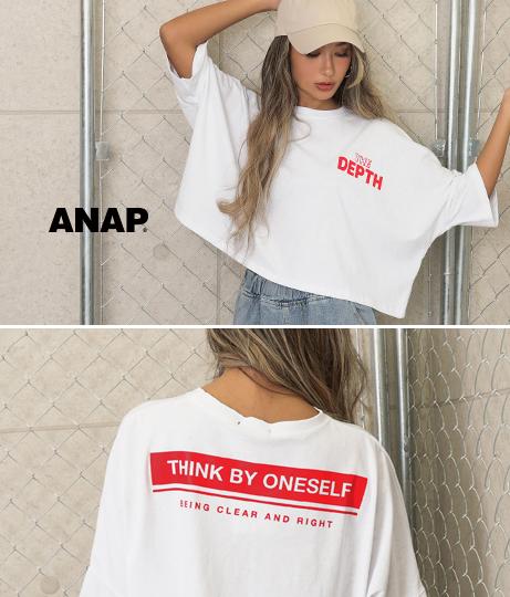 ドルマンスリーブクロップドTシャツ