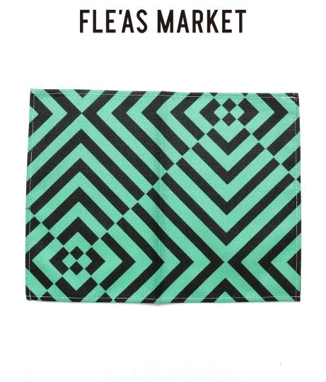 ジオメトリック柄リネンテーブルプレイスマット(インテリア雑貨/インテリアアクセサリー・ラグ・マット) | Fle'as Market