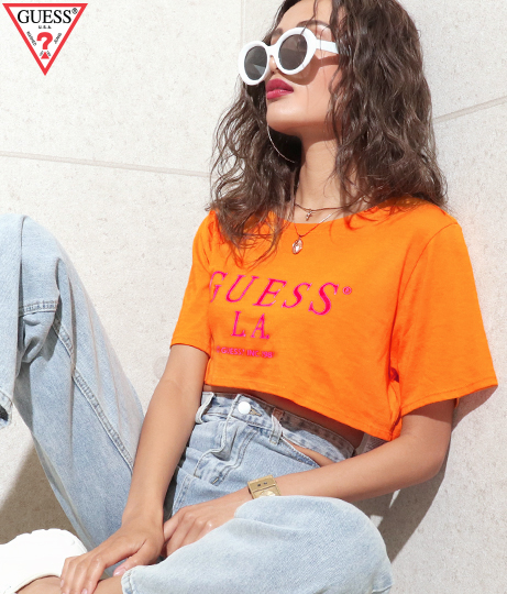GUESS SS OLD SCHOOL LOGO MICRO TEE