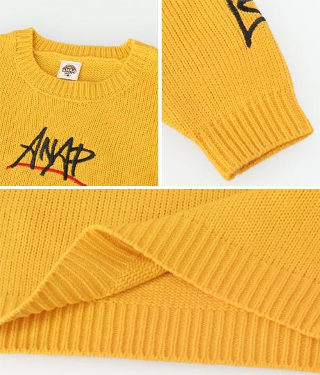 手書き刺繍ニットトップス(トップス/ニット/セーター) | ANAP KIDS