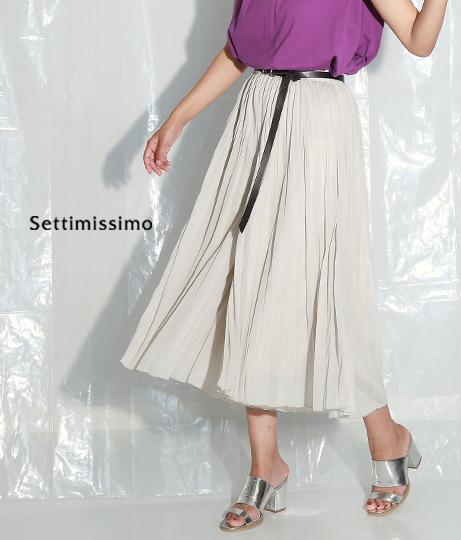 ウォッシュ可能プリーツフレアスカート(ボトムス・パンツ /スカート) | Settimissimo