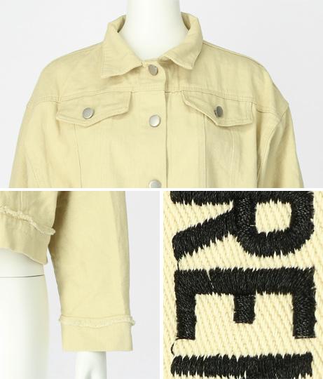 刺繍カラーGジャン(アウター(コート・ジャケット) /ジャケット・ブルゾン) | ANAP