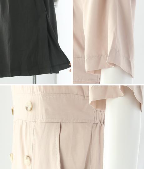 ダブルポケット付カシュクールボタンワンピース(ワンピース・ドレス/ミディアムワンピ) | CHILLE
