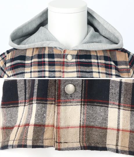 フード付チェックシャツ(アウター(コート・ジャケット) /ジャケット・ブルゾン) | ANAP KIDS