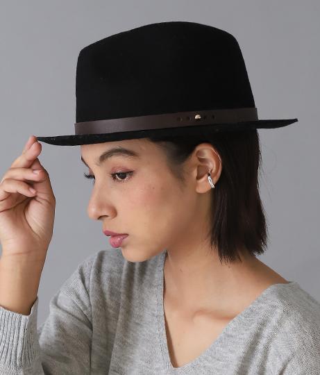 エコレザーベルトウール中ツバハット(ファッション雑貨/ハット・キャップ・ニット帽 ・キャスケット・ベレー帽) | Settimissimo