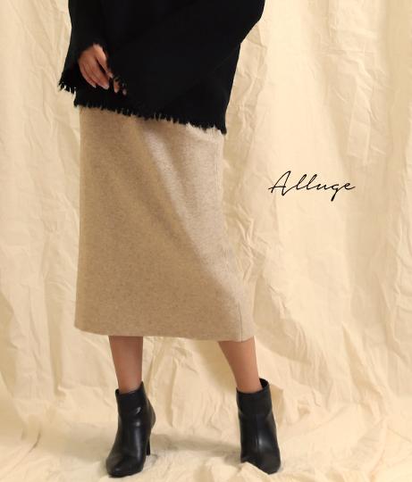 アンゴラタッチタイトスカート