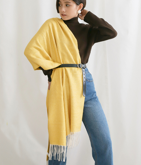 ヘリンボーン柄静電気防止ストール(ファッション雑貨/マフラー・ストール ・スヌード・スカーフ ) | Alluge