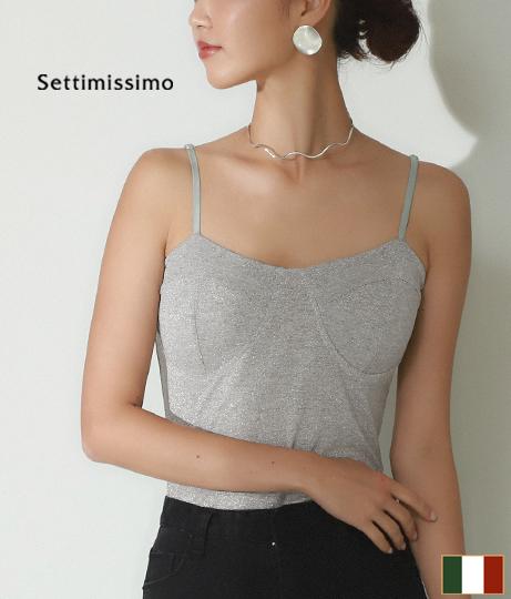 グリッターコルセット風ボディースーツ(トップス/カットソー ) | Settimissimo