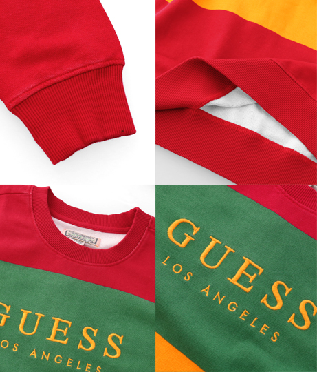 GUESS LS GO FIELD STRIPE OS SWTSHIRT | GUESS