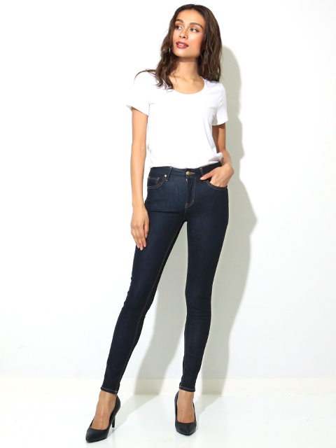 GUESS LADIES DENIM PANTS ANKLE SKINNY