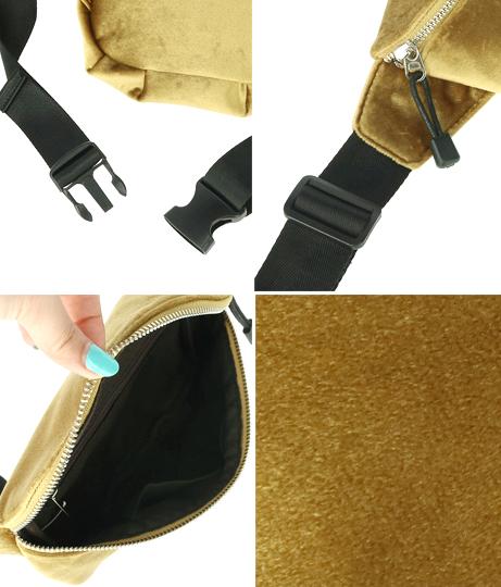 ベロアウエストポーチ(バッグ・鞄・小物/ショルダーポシェット) | Settimissimo