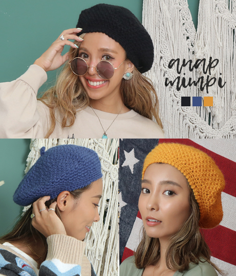 ニットベレー帽(Others/ハット・キャップ・ニット帽 ・キャスケット・ベレー帽・その他) | anap mimpi