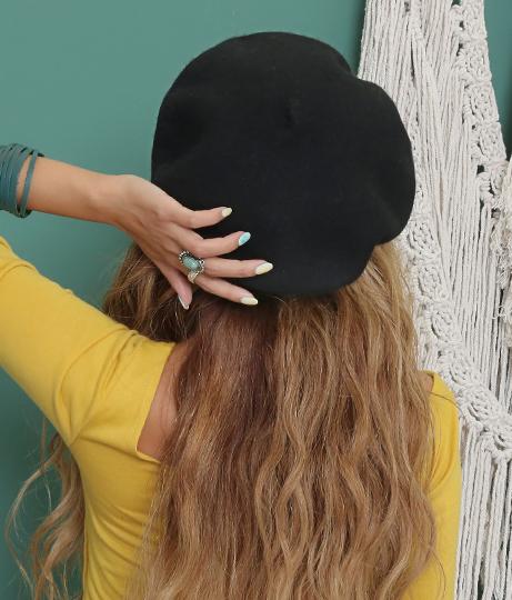 シンプルベレー帽(ファッション雑貨/ハット・キャップ・ニット帽 ・キャスケット・ベレー帽) | anap mimpi