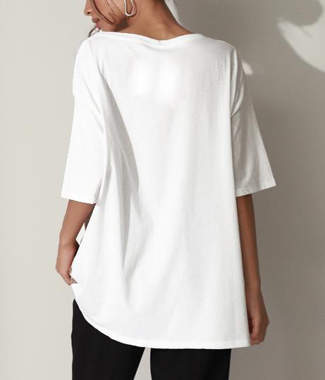 ジオメトリック柄切替Tシャツ(トップス/Tシャツ) | Settimissimo