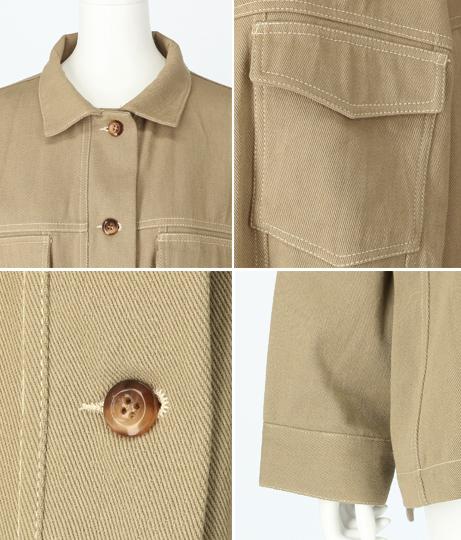 ステッチポイントビッグジャケット(アウター(コート・ジャケット) /ジャケット・ブルゾン) | Alluge