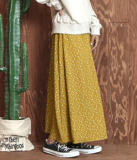 小花柄フレアスカート(ボトムス・パンツ /ミモレ丈スカート・スカート) | anap mimpi