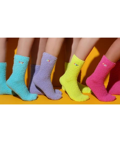 ANAPカラフルロゴ刺繍モコモコソックス(ファッション雑貨/ソックス・靴下)   ANAP HOME