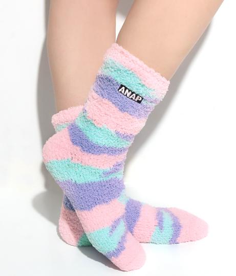 ANAPBOXロゴタイダイモコモコソックス(ファッション雑貨/ソックス・靴下) | ANAP HOME