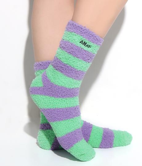 ANAP刺繍ロゴボーダーモコモコソックス(ファッション雑貨/ソックス・靴下) | ANAP HOME