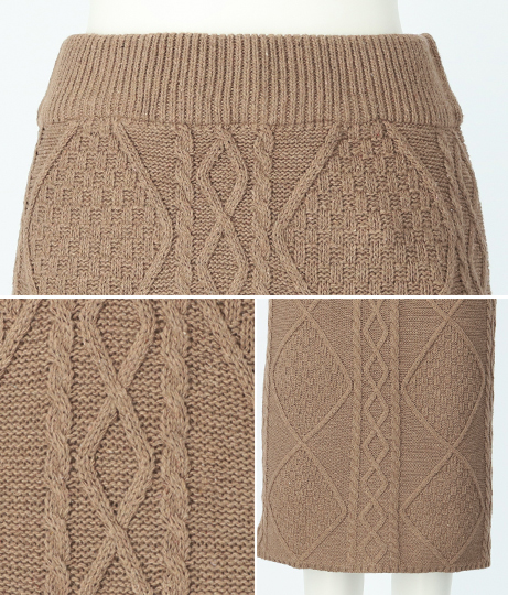 ケーブルニットスカート(ボトムス・パンツ /ニットスカート ・スカート) | anap mimpi