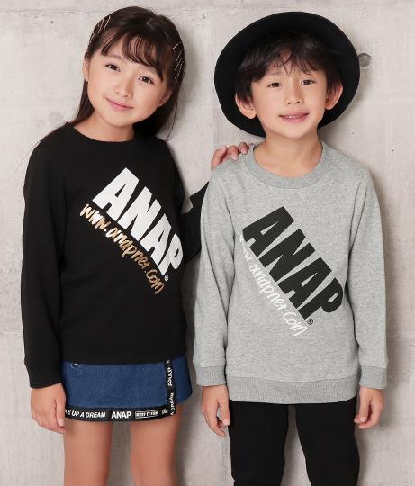 裏シャギーロゴトレーナー | ANAP KIDS