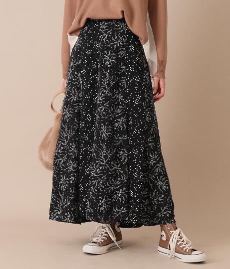 柄ミックスフレアロングスカート(ボトムス・パンツ /スカート) | AULI