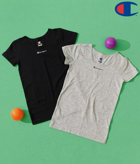 2PクルーネックTシャツ