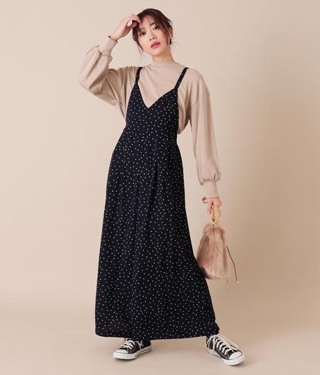 ドットオールインワン(ワンピース・ドレス/サロペット/オールインワン) | AULI