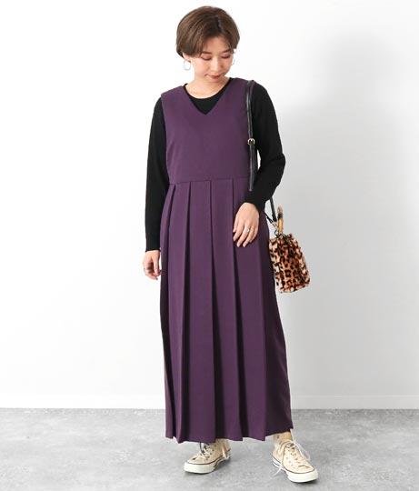 2WAYプリーツジャンパースカート