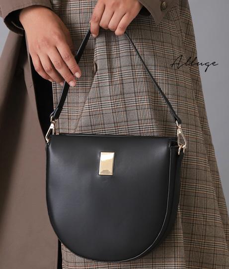 ハーフムーンショルダーバッグ(バッグ・鞄・小物/ショルダーバッグ) | Alluge