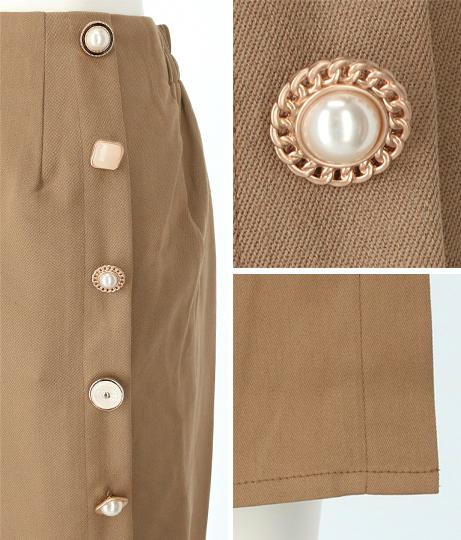 サイドアソートボタン付タイトスカート(ボトムス・パンツ /スカート) | CHILLE