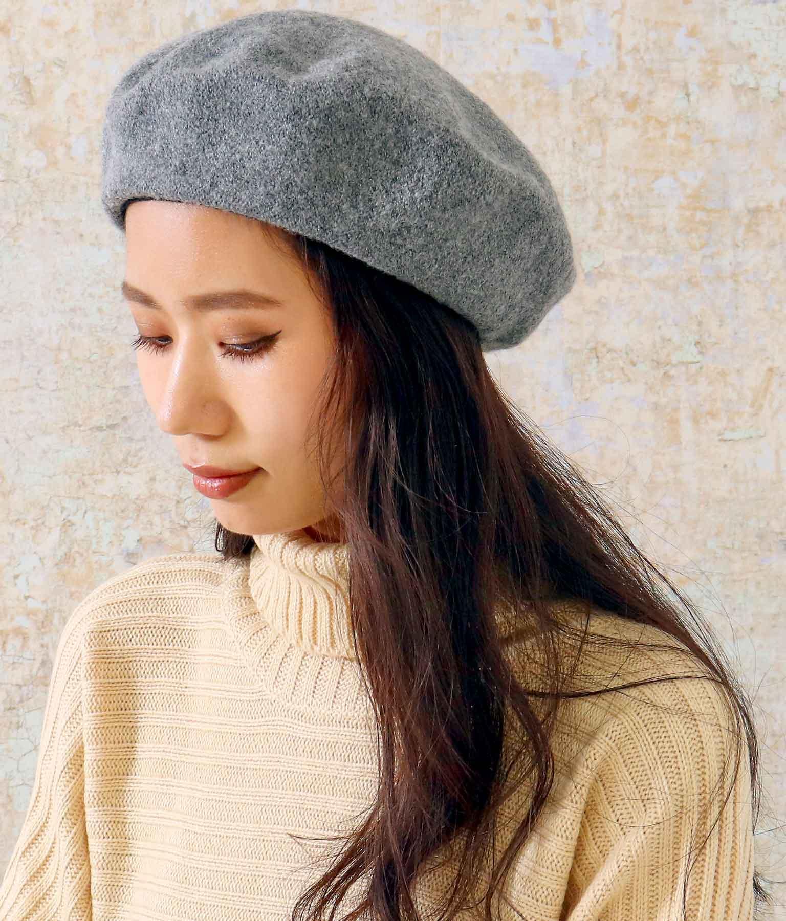 ウールタッチベレー帽(ファッション雑貨/ハット・キャップ・ニット帽 ・キャスケット・ベレー帽) | ANAP